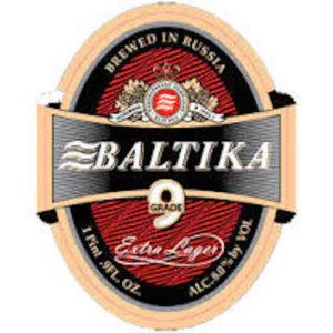 Baltika #9 Pale Lager • 15.9oz Bottles