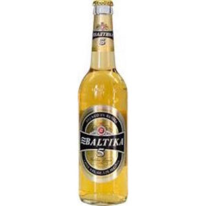Baltika #5 Golden Lager • 15.9oz Bottles