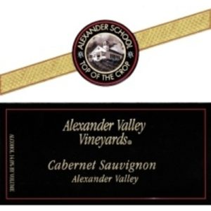 Alexander Valley Vineyards Alexander School Top Of The Crop Single Vineyard Selection Cabernet Sauvignon