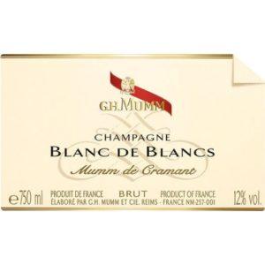 G H Mumm Cramant Champagne (Blanc De Blancs) 6 / Case