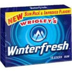 Wrigley's Slim Pack Winterfresh Chewing Gum