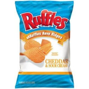 Ruffle's Cheddar & Sour Cream Potato Chips