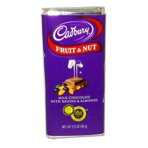 Cadbury Fruit & Nut Chocolate Candy Bar