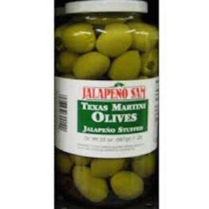 Jalapeno Sam Texas Martini Olive 1 / 2 Gal