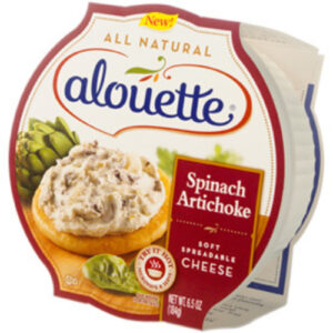 Alouette Spinach And Artichoke Soft Spreadable Cheese Cup
