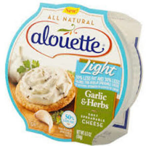 Alouette Light Garlic & Herbs Soft Spreadable Cheese Cup