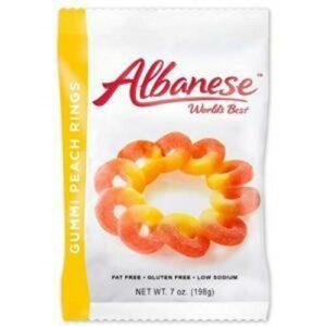 Albanese Peach Rings Gummi Candy