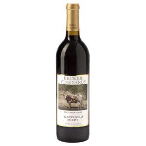 Becker Vineyards Tempranillo