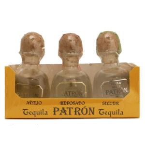 Patron Tequila • 3pk-50ml (Silver  Reposado  Anejo)