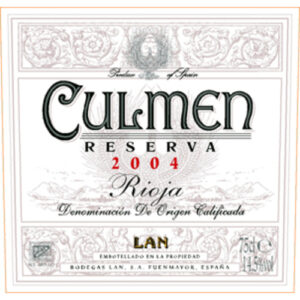 "Bodegas Lan ""culmen"" Reserva Rioja"