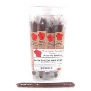 Wisconsin Smoked Snack Sticks • Bacon Cheddar