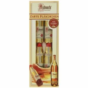 Asbach Brandy Filled Chocolate Bottles 4ct