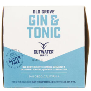 Cutwater Cocktails • Gin & Tonic 4pk-12oz