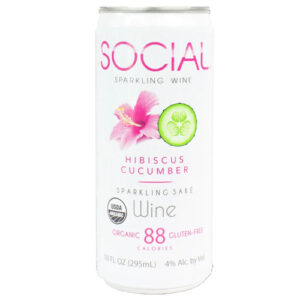 Social Sparkling Hibiscus Cucumber Can