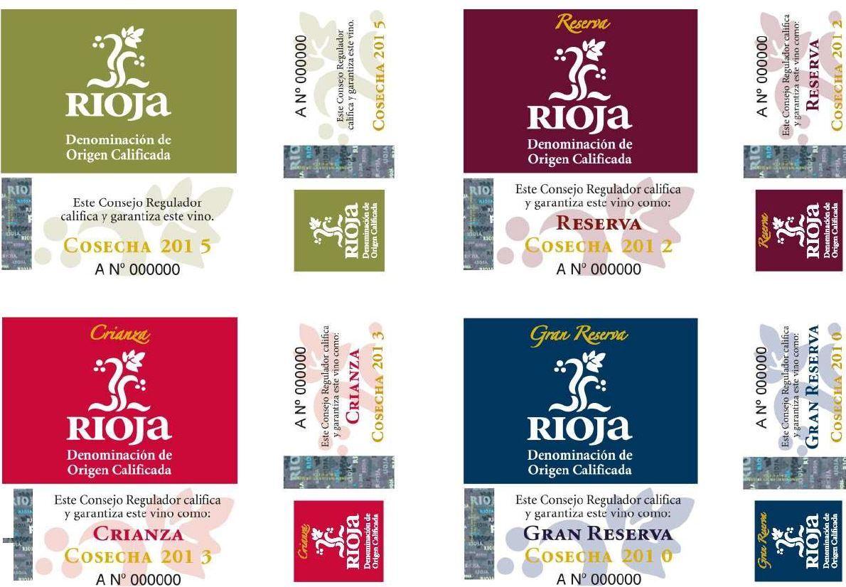 Rioja Wine Quality Control Stamps