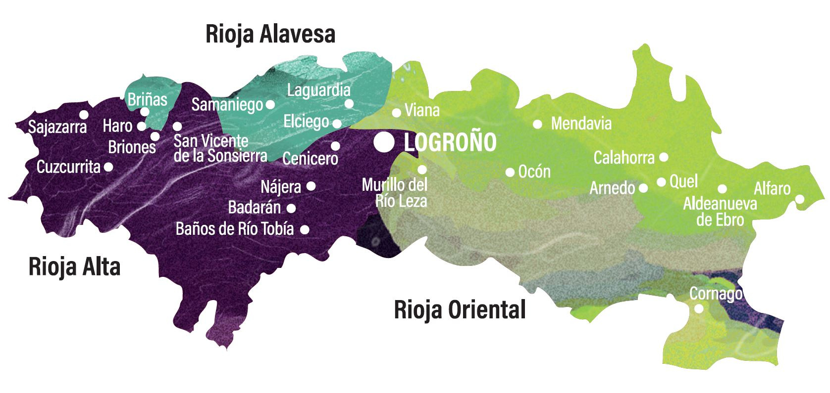 Wines Of Rioja - Rioja Region Map