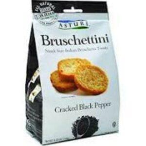 Asturi Burschettini Cracked Black Pepper Toast