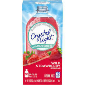 Crystal Light Wild Strawberry Energy Drink Mix With Caffeine To Go Packets