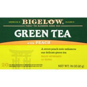 Bigelow Green With Peach Tea Bags