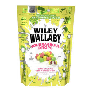 Wiley Wallaby Sourrageous Licorice Drops Candy