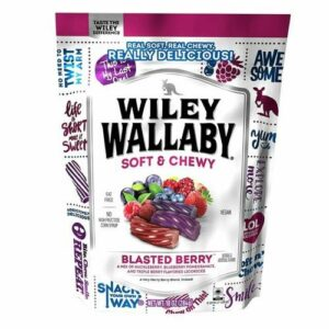 Wiley Wallaby Blasted Berry Australian Style Licorice Candy