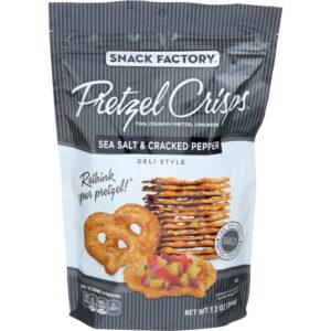 Snack Factory Pretzel Crisps Sea Salt Pepper