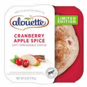Alouette Cranberry Apple Cheddar Soft Spreadable Cheese Cup
