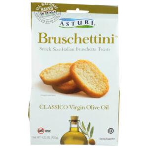 Asturi Classico Bruschettini Virgin Olive Oil Snack Size Italian Toasts