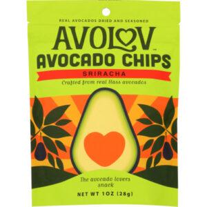Avolov Sriracha Avocado Chips By Branch Out
