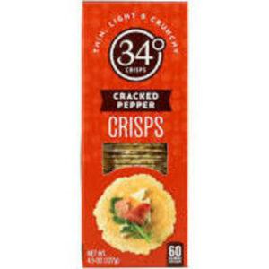 34 Degrees Cracked Pepper Crispbread