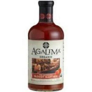 Agalima Organic Authenic Bloody Mary Drink Mix All Natural Glass