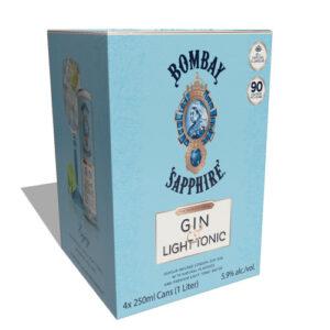 Bombay Sapphire Cocktails • Light Gin & Tonic 4pk