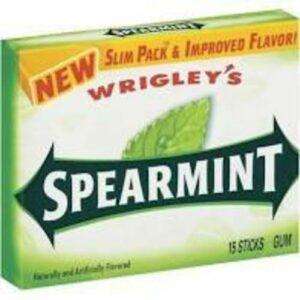 Wrigley's Slim Pack Spearmint Chewy Stick Gum