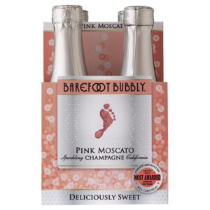 Barefoot Bubbly Pink Moscato 4pk