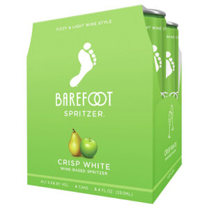 Barefoot Cellars Refresh Crisp White Spitzer 4 Cans Rare White Blend