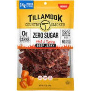 Tillamook Beef Jerky Hot Spicy Zero Sugar
