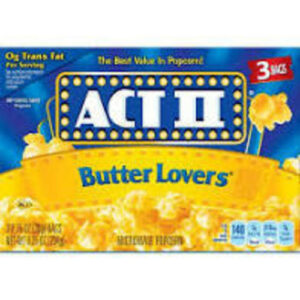 Act Ii Microwave Butter Popcorn 3 Ct
