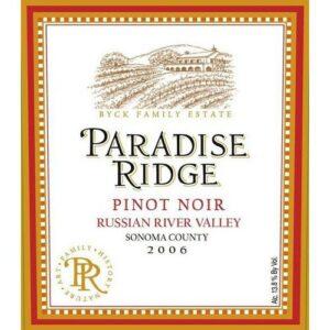 Paradise Ridge Pinot Noir Walter's Vineyard Russian River Valley