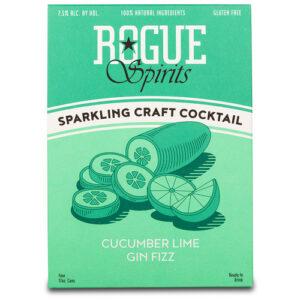 Rogue Cocktails • Cucumber Lime Fizz 4pk 12 Oz