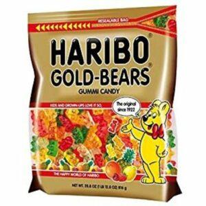 Haribo Gold Bears Gummi Candy Resealable Bag