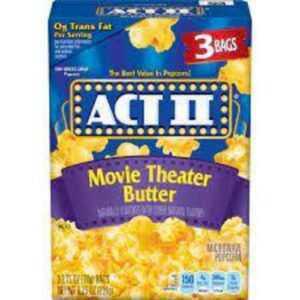 Act Ii Microwave Movie Theater Butter Popcorn
