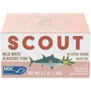 Scout Wild White Albacore Tuna In Extra Virgin Olive Oil