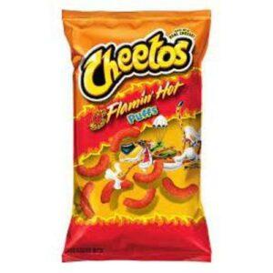 Cheetos Puff Flamin Hot Cheese Snacks