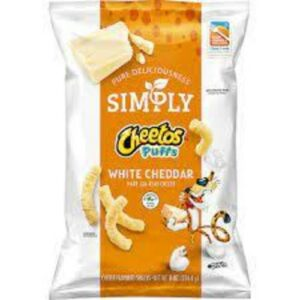 Cheetos Puff Simply White Cheddar Cheese Flavored Snacks