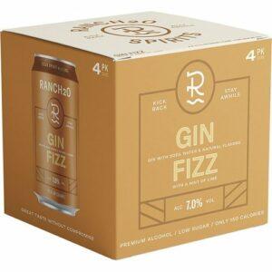 Ranch2o Cocktails • Gin Fizz 4pk-12oz