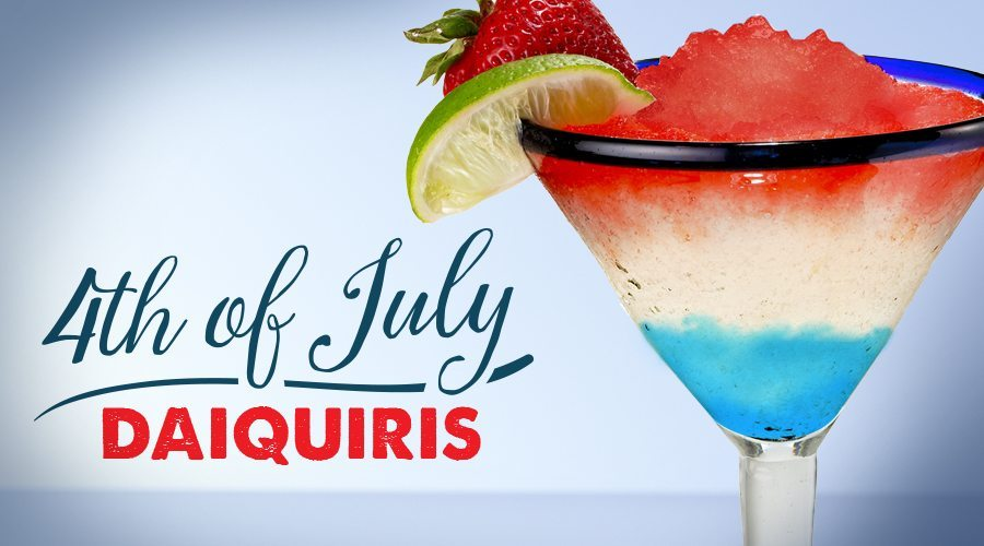Fourth Of July, Red, White, And Blue Daiquiris