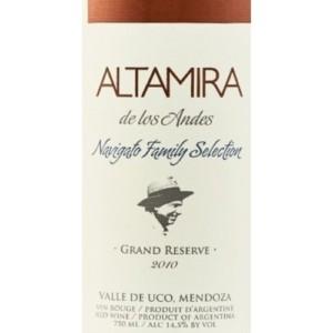 Altamira De Los Andes Navigato Family Selection Grand Reserve Bordeaux Blend