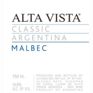 Alta Vista Classic Malbec